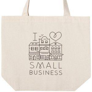 "Promo ""I Love Small Business"" Tote Bag NWT"